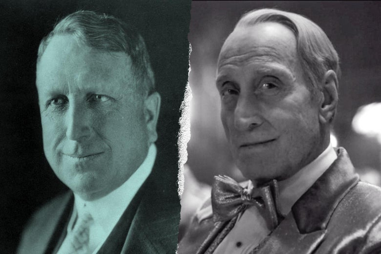 William Randolph Hearst, and Charles Dance as Hearst in Mank.