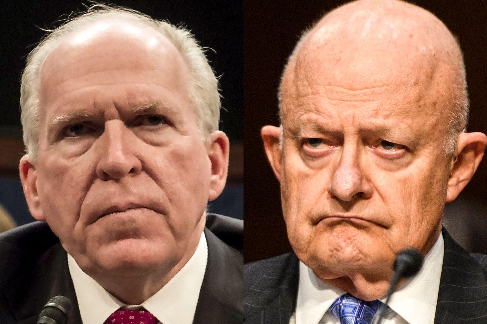 John Brennan, left, and James Clapper.