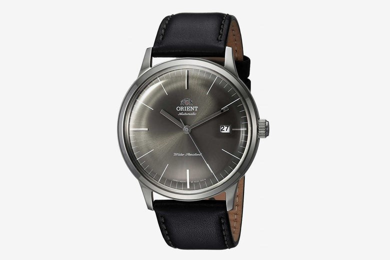 Orient Japanese Automatic Stainless Steel and Leather Dress Watch