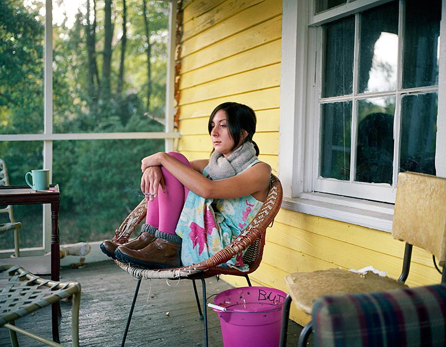 Micki On Her Porch, 2006