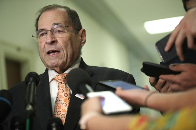 House Judiciary Committee Chairman Rep. Jerry Nadler (D-NY) speaks to members of the media at Rayburn House Office Building on Capitol Hill June 26, 2019 in Washington, D.C.