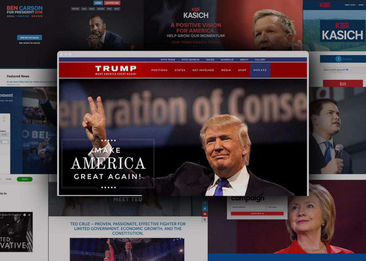 The Presidential Campaign Websites Are Terrible