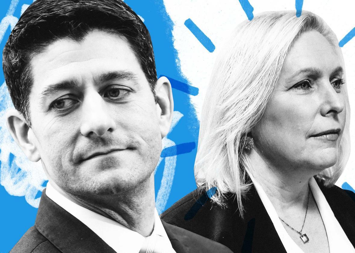 Paul Ryan, Kirsten Gillibrand.