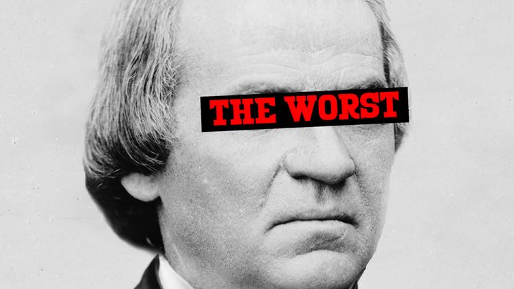 America's worst president is Andrew Johnson: President's Day video.