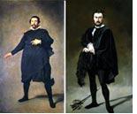 Velázquez, The Jester Pablo de Valladolid, and Manet, The Tragic Actor