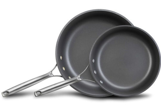 Calphalon Unison Nonstick Slide Surface Omelette Fry Pan, 10-Inch and 12-Inch, Black.