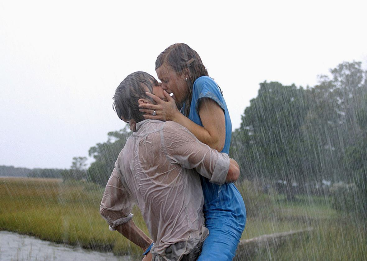 Ryan Gosling and Rachel McAdams in The Notebook, 2004.