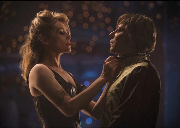 Emmanuelle Seigner and Mathieu Amalric in Venus in Fur.