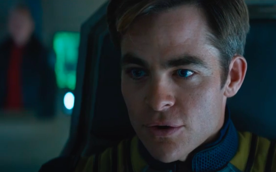 Chris Pine as Captain Kirk in Star Trek Beyond.