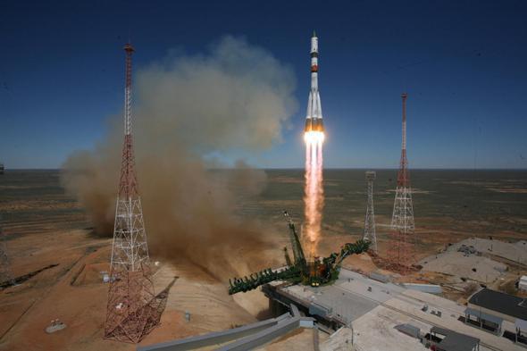 launch of Soyuz rocket