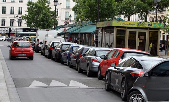 Parked cars in Paris