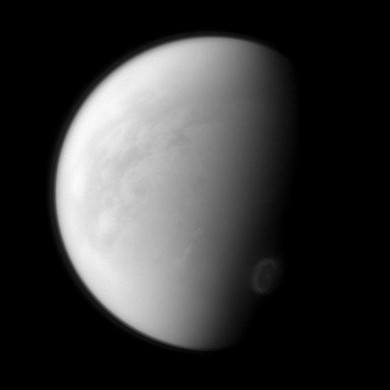Cassini spacecraft image of Saturn's moon Titan