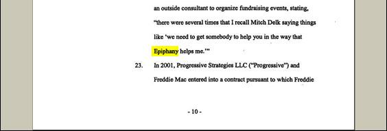 Epiphany Productions, a political fundraising firm, organized the events. Its co-founder is a former deputy finance director of the National Republican Congressional Committee.