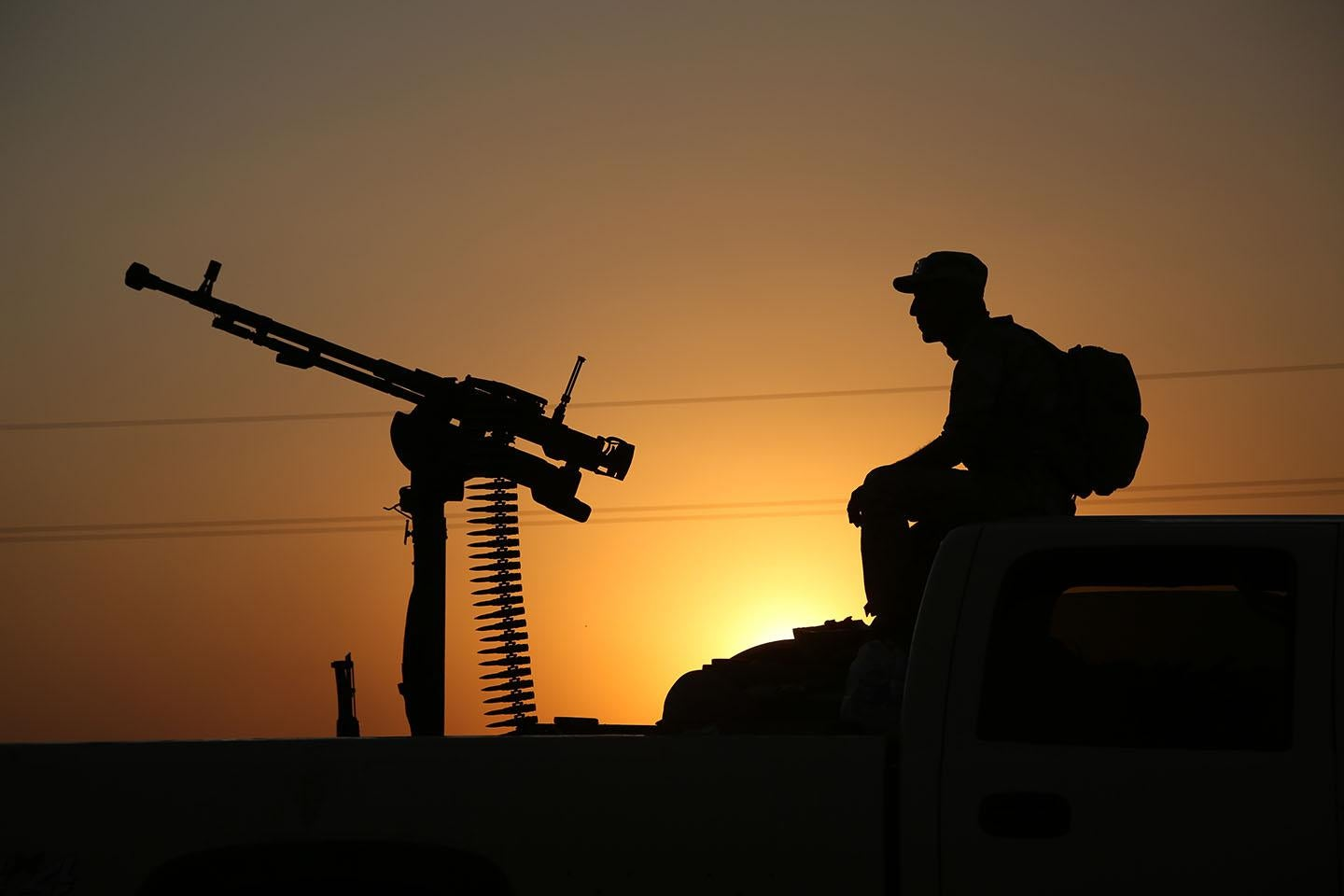A member of Syrian People's Protection Units (YPG) near Mosul, Iraq on August 6, 2014.