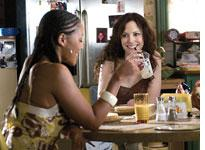 Indigo (left) and Mary-Louise Parker in Weeds. Click image to expand.