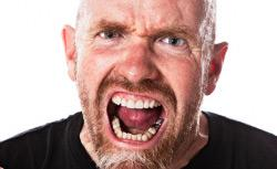 Angry hot man.