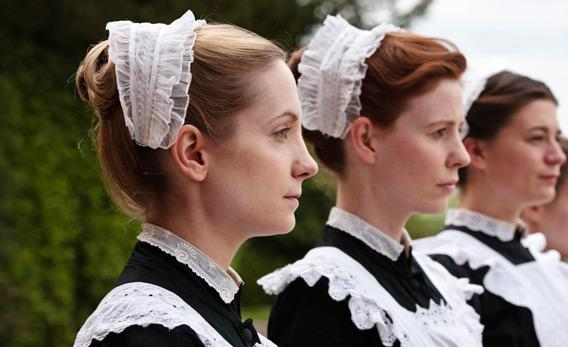 The housemaids of Downton Abbey.