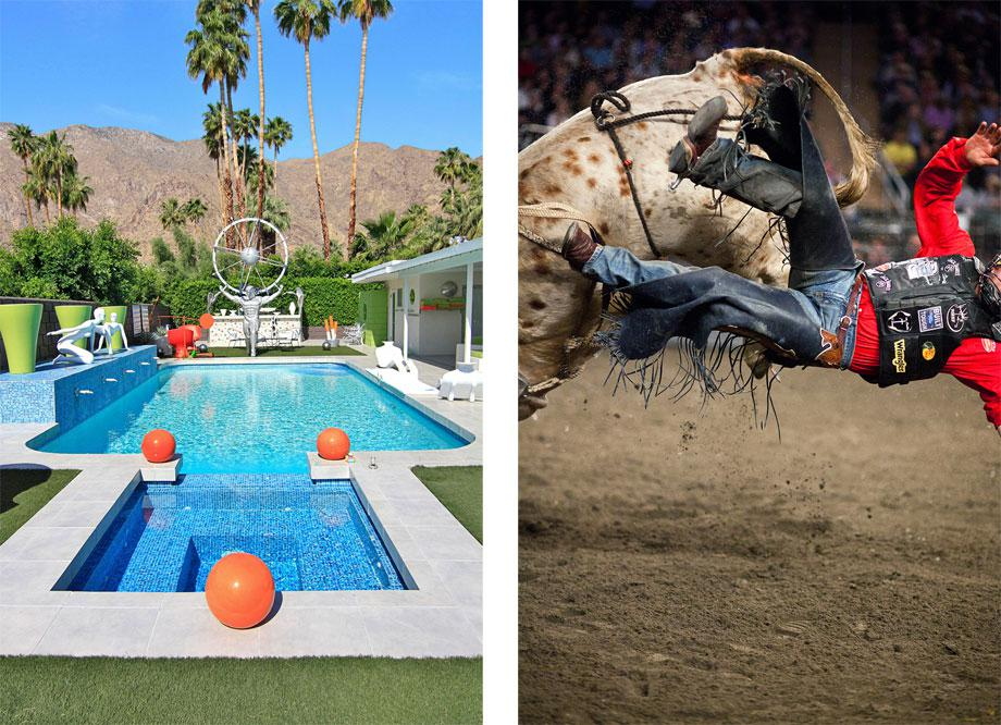 Left: Leisure Land Pool from Palm Springs, 2010 Right: Rodeo Man from Rodeo, 2012