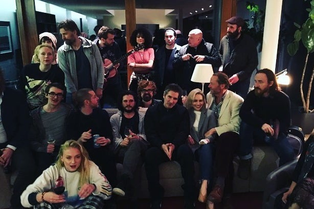 The Game of Thrones cast at a party.