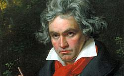 Portrait Ludwig van Beethoven when composing the Missa Solemnis, painted in 1820 by Joseph Karl Stieler.