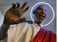 Barack Obama sculpture. Click image to expand.