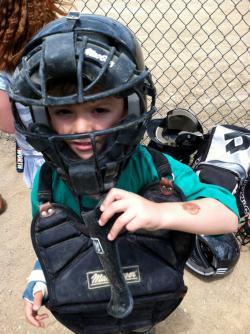 Kid Playing Baseball.