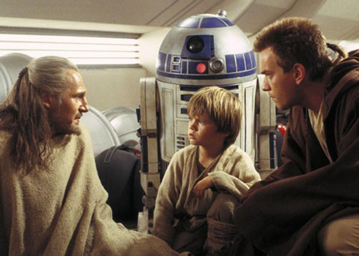 Ewan McGregor, Liam Neeson and Jake Lloyd in Star Wars: Episode I - The Phantom Menace (1999)