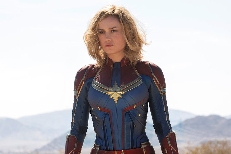 Brie Larson in Captain Marvel.