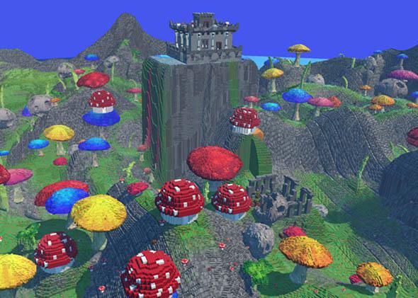 Mushroom biome, Lego World.