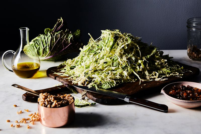 Winter slaw with farro.