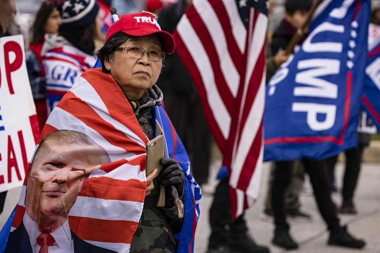 Supporters of President Donald Trump gather on November 25, 2020 in Gettysburg, Pennsylvania.