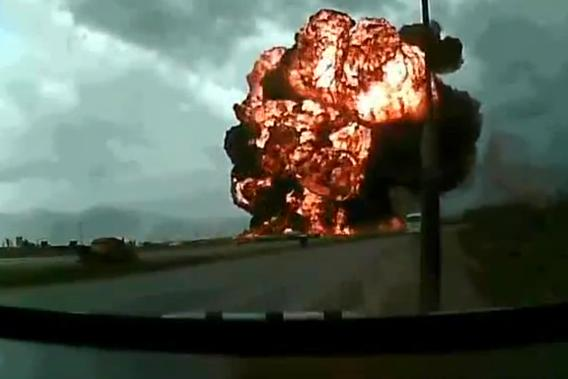 Video of 747 crash in Afghanistan's Bagram Airfield.