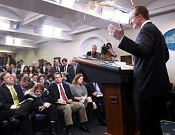 White House briefing. Click image to expand.