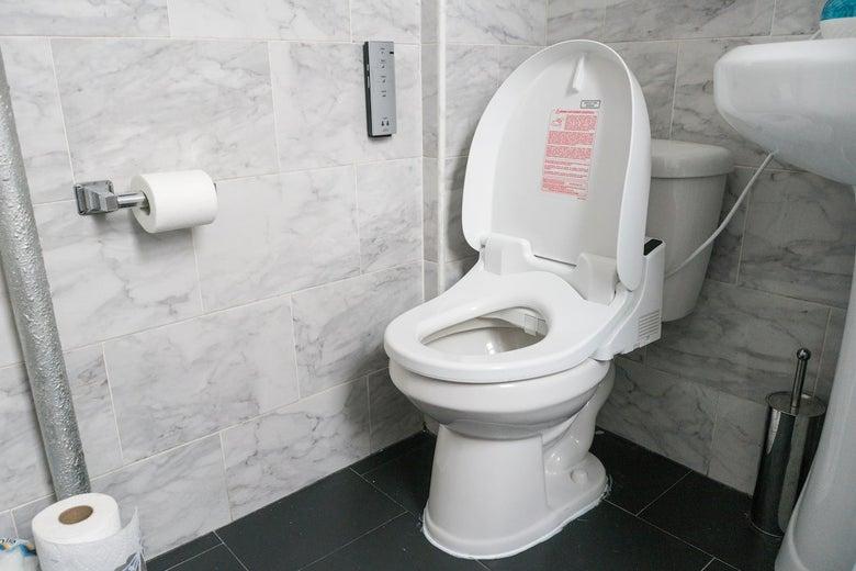Toto Washlet on a toilet