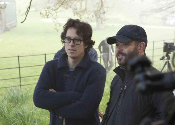 Director Cary Fukunaga on the set of Jane Eyre.