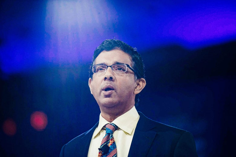 Dinesh D'Souza speaks at CPAC in National Harbor, Maryland, on March 5, 2016.