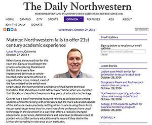 Screenshot courtesy The Daily Northwestern