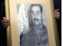 A portrait of Saddam Hussein. Click image to expand.