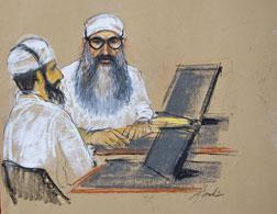Khalid Sheikh Mohammed and Waleed bin Attash. Click image to expand.