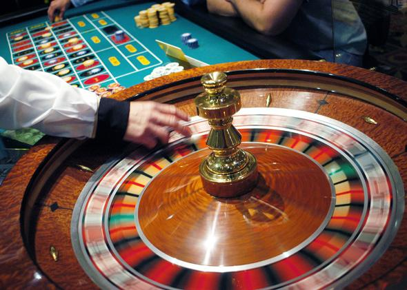 roulette wheel.