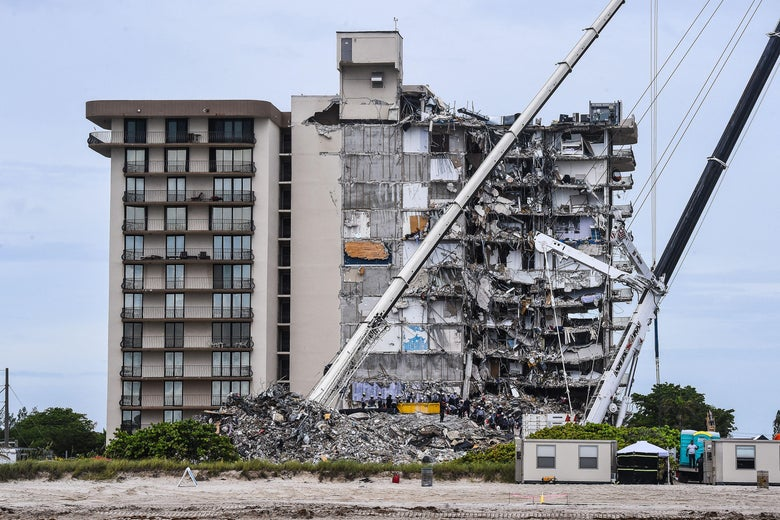The horror of the Surfside building collapse.