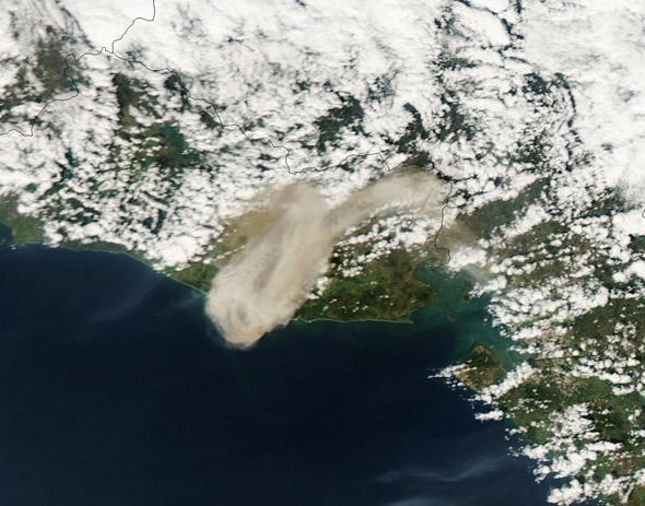 San Miguel erupts
