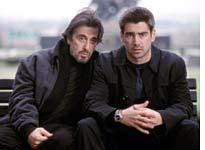 Pacino and Farrell in The Recruit