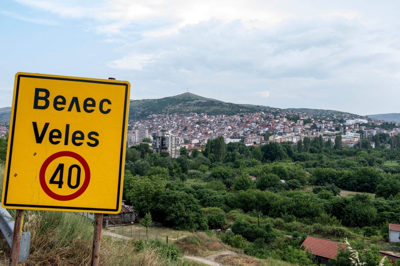 At least 140 sensationalist news websites originated in the city of Veles.