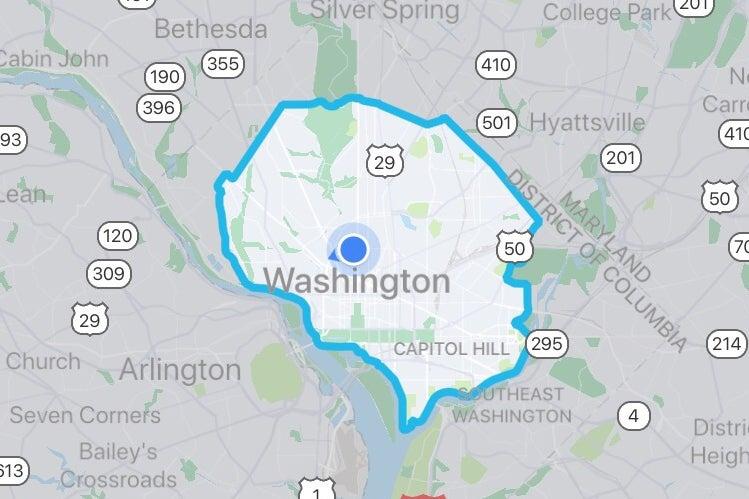 Via's service map.