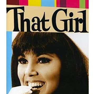 A poster with a young Marlo Thomas biting her gloved hand.