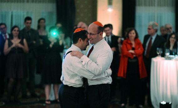A gay wedding.