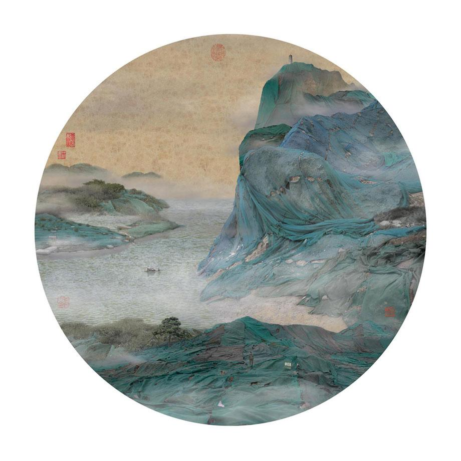 Clear Cliff Shrouded in Floating Clouds, 2007