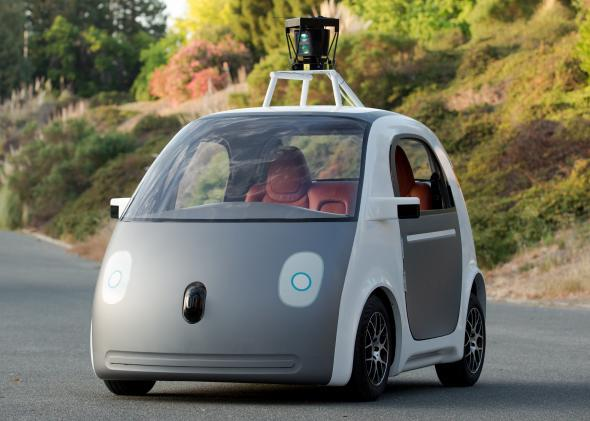Google's latest self-driving car prototype doesn't even have a steering wheel.