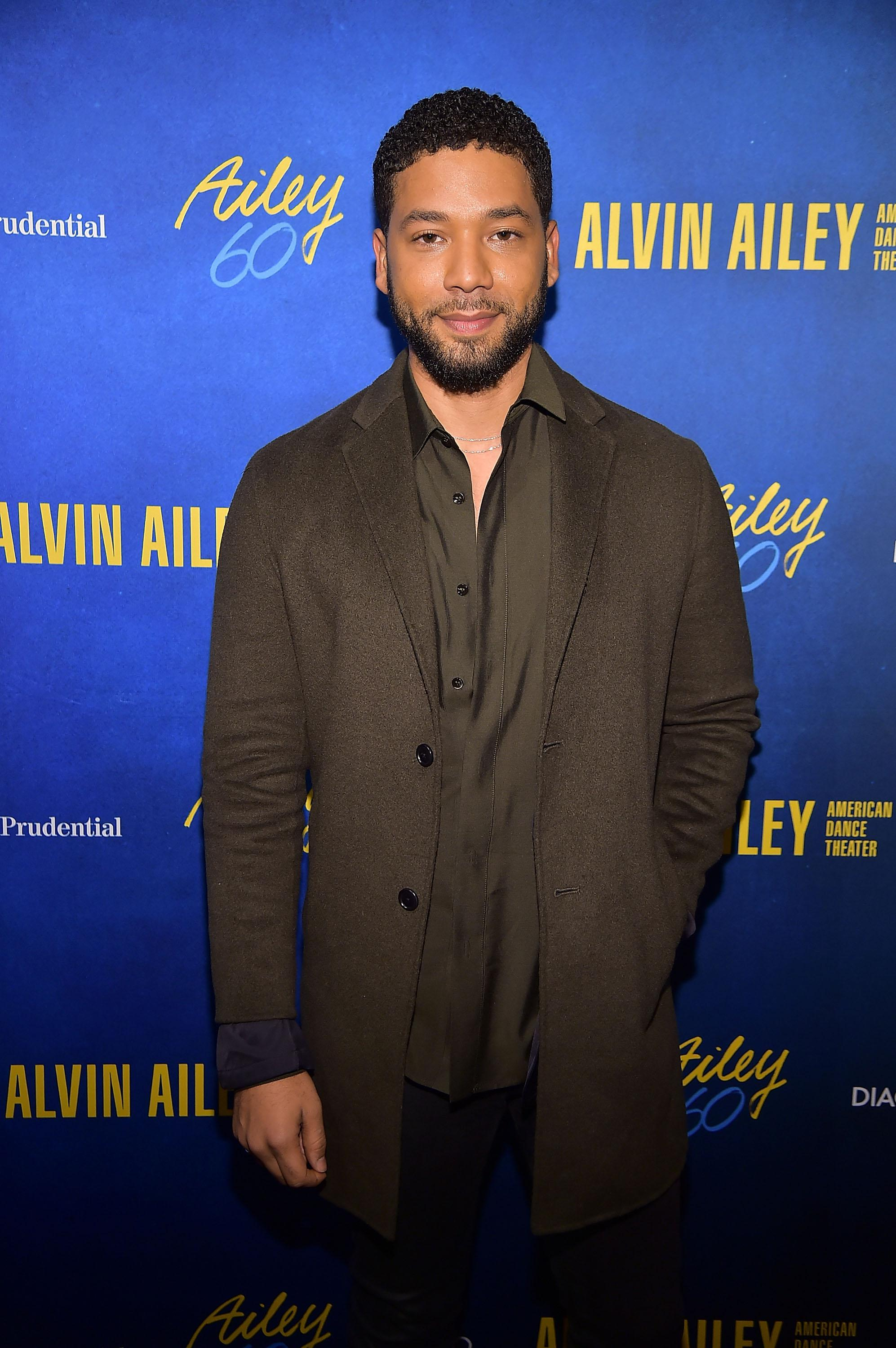 NEW YORK, NY - NOVEMBER 28:  Jussie Smollett attends the Alvin Ailey American Dance Theater's 60th Anniversary Opening Night Gala Benefit at New York City Center on November 28, 2018 in New York City.  (Photo by Theo Wargo/Getty Images)
